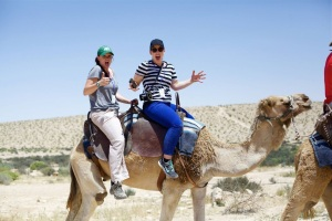 Riding a camel in Israel