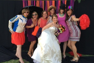 A reunion of college friends for our friend Hillary's wedding