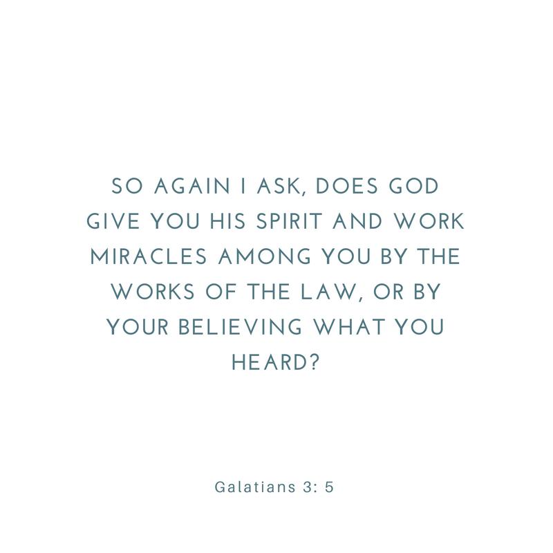 Galatians 3: 1-5
